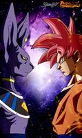 Goku vs Bills by GhoulFire
