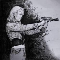 girl with a gun by mattdonnici