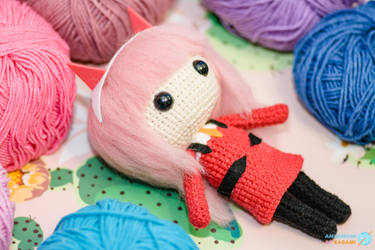 Zero Two - Darling in the Franxx - Amigurumi Doll by AmigurumiByKagami
