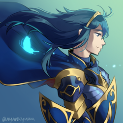 Day 23: Brave Lucina by Nyankyuu
