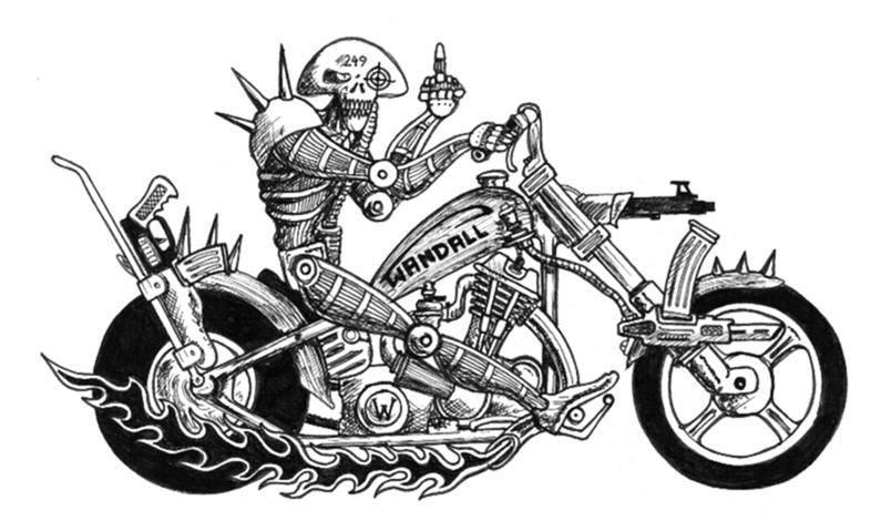 Wandall with Bike by maikgodau666