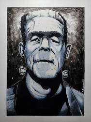 Frankenstein's Monster by RBroussardArt