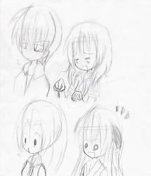 Higurashi - Sketch01 by HazelIzuki