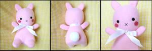 Pink BunBun-chan Plushie by HezaChan