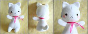 Cute White Kitten Plushie by HezaChan