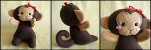 Cute Monkey Plush by HezaChan