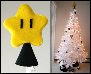 Mario Star Tree Topper by HezaChan