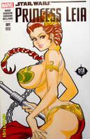 Star Wars Princess Slave Leia Sketch Cover by SSaruman