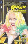 Margot Robbie Harley Quinn Black and Gold Dress by SSaruman