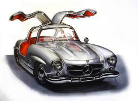 Mercedes 300SL by Celia-H