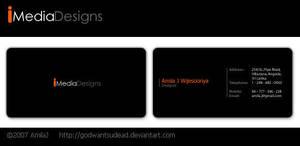 Imedia Logo n Business card by godwantsudead