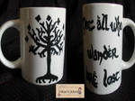For Sale Not all who wander are lost Mug by Hikarisworld