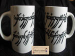 For Sale Ring Script Mug by Hikarisworld