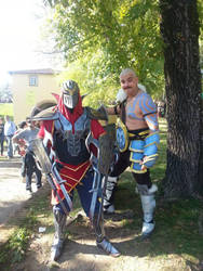 Zed and Braum cosplay by edWRd-Cosplay