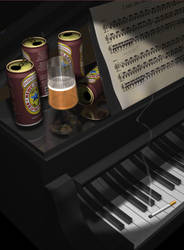 The piano is drunk not me by ArtOrca