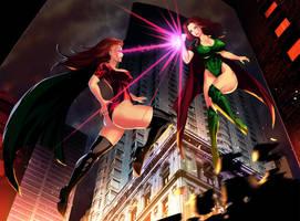 Heroine vs Clone By Ulielart by LordAmon12