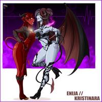 Enija vs Kristinara By Great Dude by LordAmon12