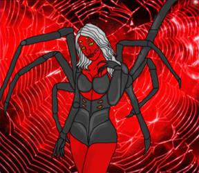 Latrodara the Spider-Demoness by LordAmon12