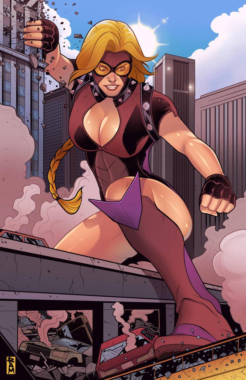 Gigawoman Rampage by RamArtwork by LordAmon12
