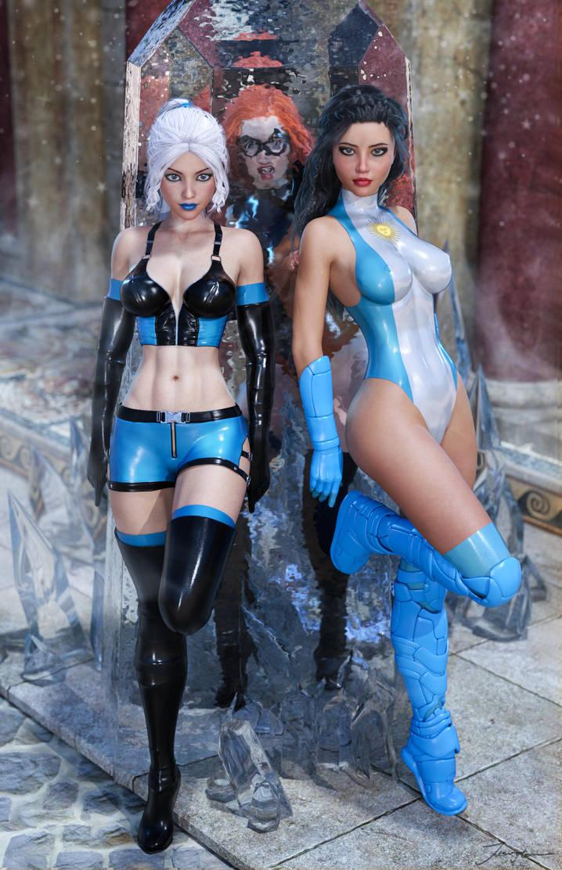 Ice Heroines team up!! by LordAmon12