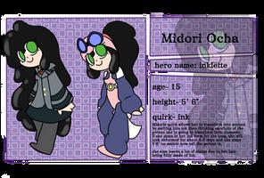 Midori Ocha ref sheet by Pugbrainey