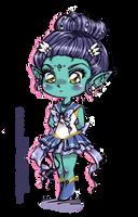 Chibi Sailor Skat by unconventionalsenshi