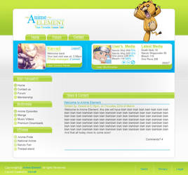 Anime Web layout 2 by Kewell07