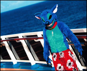 'Stitch' suit on a cruise by Frazzy626
