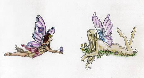 Two Lameass Fairies by valkyriechan