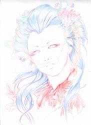 Head of Geisha by valkyriechan
