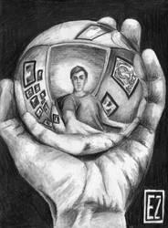 Escher Selfportrait by EstebanZzZ
