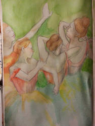 Study of Degas' ballerinas by Psychedelic-PURR