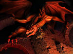 Red Underworld Dragon by reeks