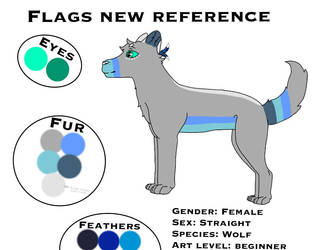 New main OC reference sheet by FlagsandFairys