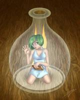 Bottled fairy by kowai-usagi