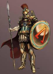 Hellas Hoplite by NathanRosario