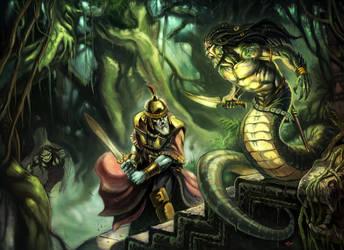 Hellas: Jungle encounter by NathanRosario