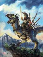 Kang with Strider - Talislanta by NathanRosario