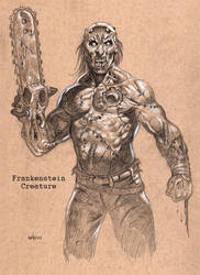 Frankenstein's monster by NathanRosario
