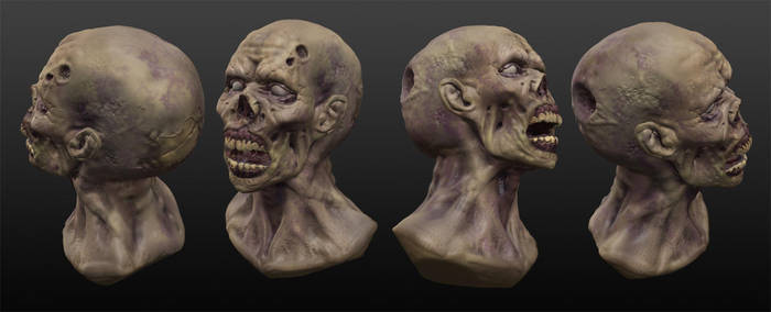 Zombie Sculpt by NathanRosario