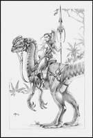 Dinosaur Rider by NathanRosario