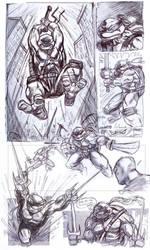Ninja Turtles Pen Sketches by NathanRosario