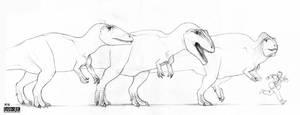 Carcharodontosaurids by Kronosaurus82