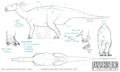 Iguanodon Model Sheet 1 by Kronosaurus82