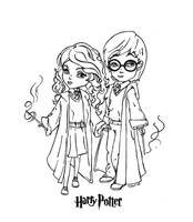 Harry and Hermione by JadeDragonne