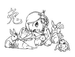 Chinese astrol. - Rabbit by JadeDragonne