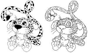 ADOPTABLE baby Marsupilami by JadeDragonne