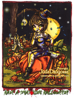 Smashing Halloween - Colored by JadeDragonne