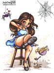 Little Miss Muffet -  Colored by JadeDragonne