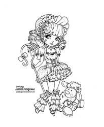 Mary's little lamb - Lineart by JadeDragonne